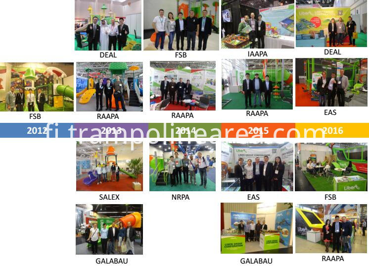 exhibition of TUV Certified Approved Trampoline Park